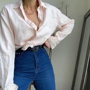 Vintage Linen Button Up